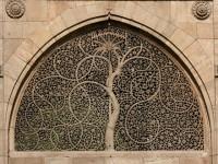 Tree of Life window Siddi Saiyad mosque